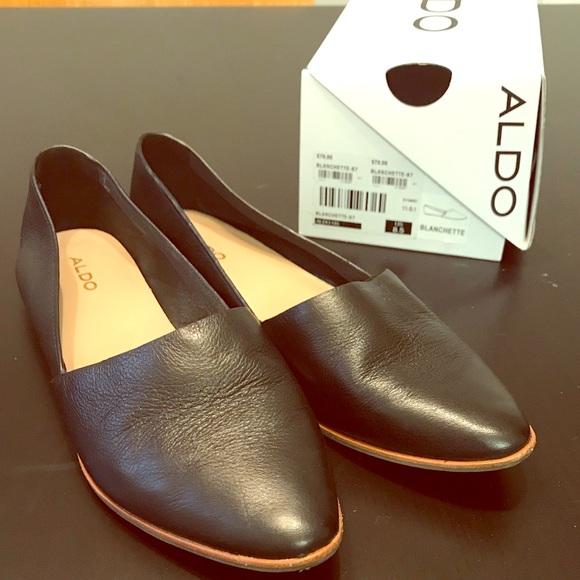 19137168408 Aldo Shoes - LAST CHANCE Aldo Blanchette Leather Flat